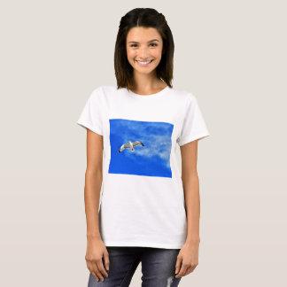 Bird on sky print t-shirt