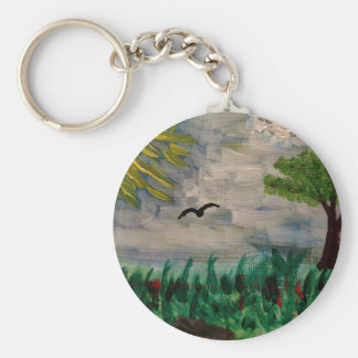 Bird on the Meadow Key Ring