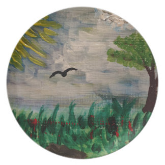 Bird on the Meadow Plate