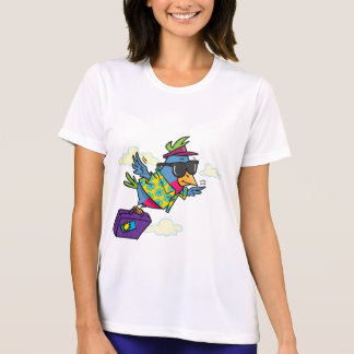 Bird On Vacation Womens Active Tee