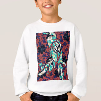 BIRD ON WALLPAPER SWEATSHIRT