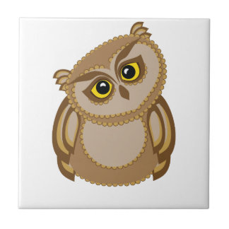 bird owl 2 ceramic tile