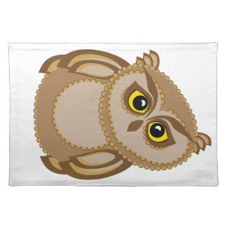 bird owl 2 placemat