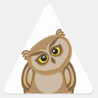 bird owl 2 triangle sticker