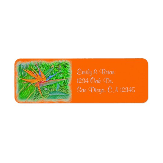 Bird Paradise Hawaii return address label