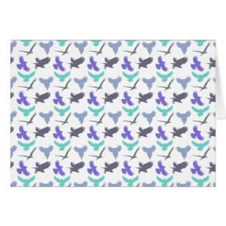 Bird Pattern Greeting Card