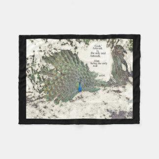 Bird Peacock Creation Wildlife Fleece Blanket