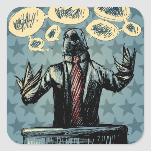 Bird Politics - Democrats Sticker
