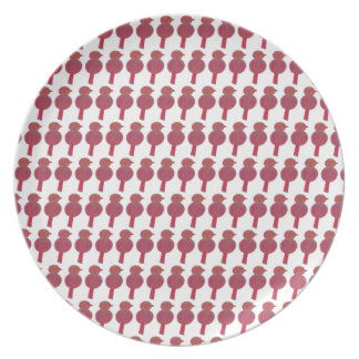 bird print melamine plate