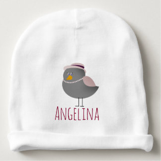 Bird Retro Fashion Cute Funny Romantic Nostalgic Baby Beanie