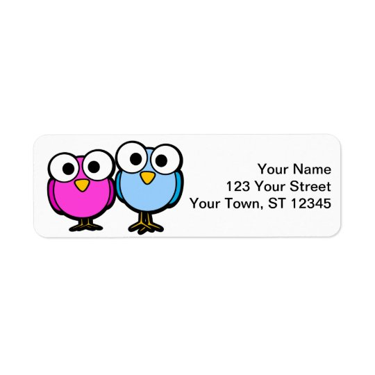 Bird return address stickers - small lables return address label