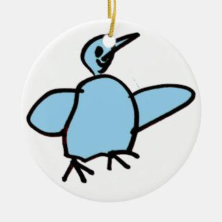 BIRD ROUND CERAMIC DECORATION