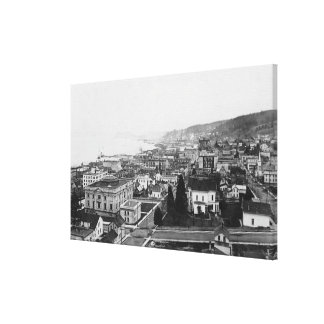 Bird s Eye View of Astoria OR Photograph Gallery Wrapped Canvas