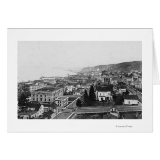 Bird s Eye View of Astoria OR Photograph Greeting Card