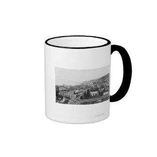 Bird s Eye View of Astoria OR Photograph Coffee Mugs