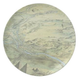 Bird s Eye View of Cairo Plate