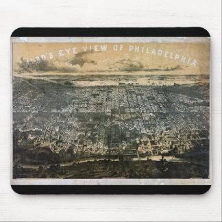 Bird s eye view of Philadelphia Pennsylvania 1868 Mousepad