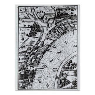 Bird s eye view of the River Thames Posters