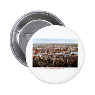 Bird s Eye View Passaic NJ 1906 Vintage Pinback Button