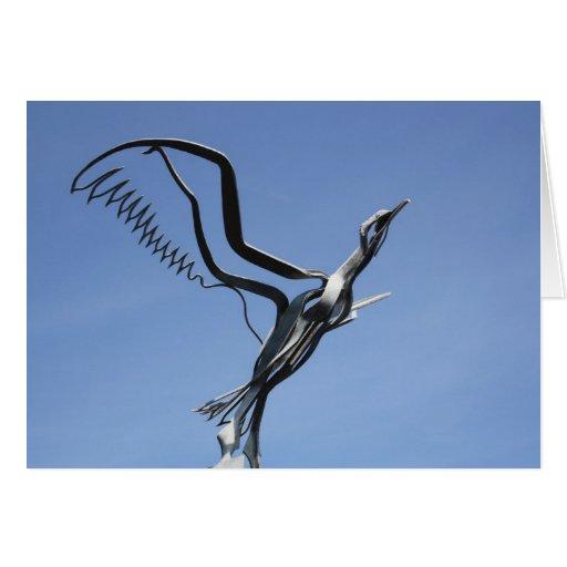 Bird Sculpture Card