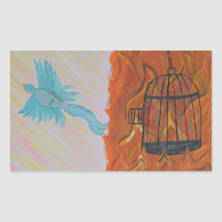 Bird Set Free Rectangular Sticker