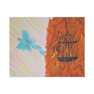 Bird Set Free Stretched Canvas Print