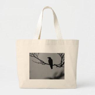 Bird silhouette large tote bag