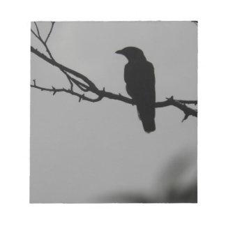 Bird silhouette notepad