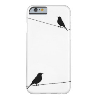 Bird Silhouettes on Wire Barely There iPhone 6 Case