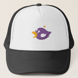 bird singing and shouting trucker hat