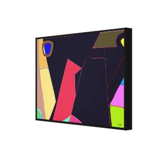 Bird Six Abstract Pop Expression Canvas Print