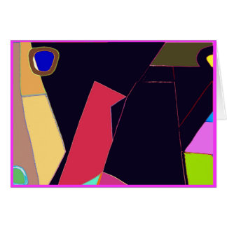 Bird Six Abstract Pop Expression Greeting Card