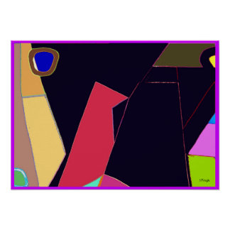 Bird Six Abstract Poster