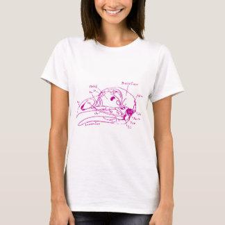 Bird Skull Illustration T-Shirt