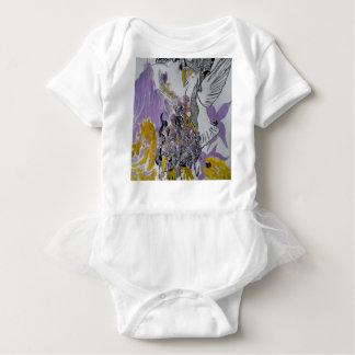 Bird Snakes and Woman Design Baby Bodysuit