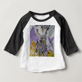 Bird Snakes and Woman Design Baby T-Shirt