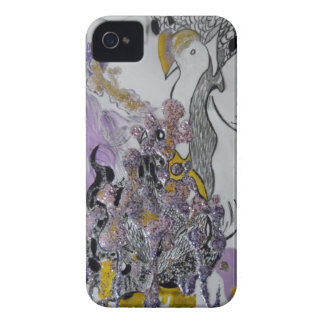 Bird Snakes and Woman Design iPhone 4 Case-Mate Cases
