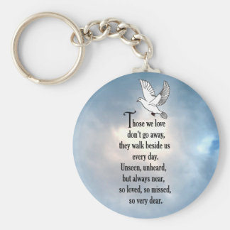 "Bird ""So Loved"" Poem Key Chain"