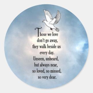 """Bird """"So Loved"""" Poem Round Sticker"""
