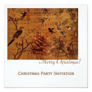 Bird Song Christmas 13 Cm X 13 Cm Square Invitation Card