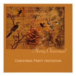 Bird Song Christmas Invites