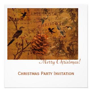 Bird Song Christmas Custom Announcement