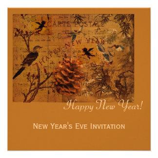 Bird Song New Year Custom Invite