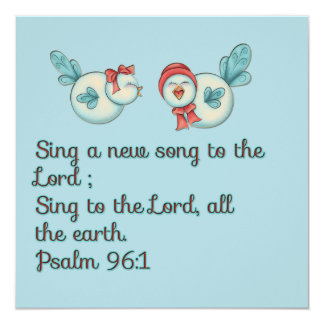 Bird song scripture verse prayer card 13 cm x 13 cm square invitation card