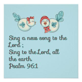Bird song scripture verse prayer card announcements