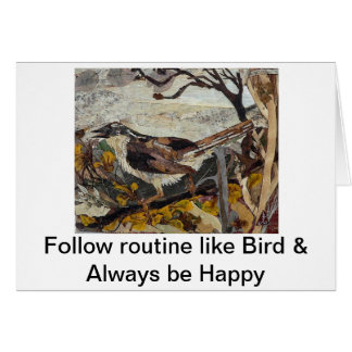 Bird Sparrow Card