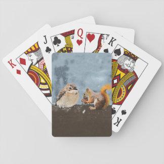 Bird & Squirrel Playing Cards