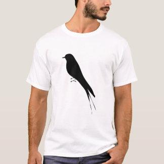 Bird Stand Tree Vine Silhouette art T-Shirt