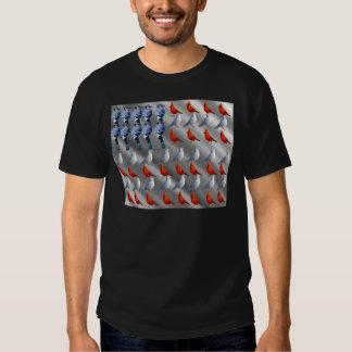 Bird Standing American Flag Shirt