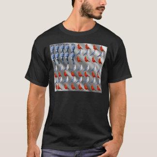 Bird Standing American Flag T-Shirt